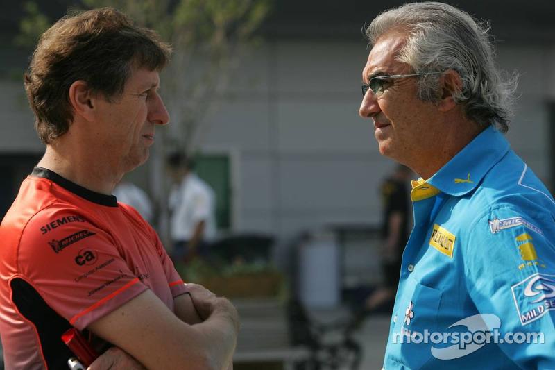 Mario Illien y Flavio Briatore