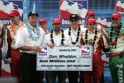 2005 IRL champion Dan Wheldon receives a cool 1 million dollars check