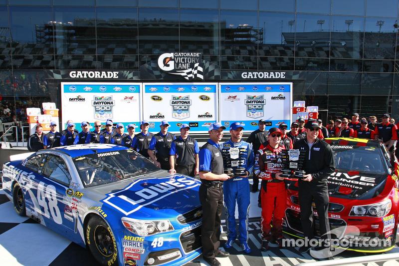 Pole-Sitter: Jeff Gordon, Hendrick Motorsports, Chevrolet; 2. Jimmie Johnson, Hendrick Motorsports, Chevrolet