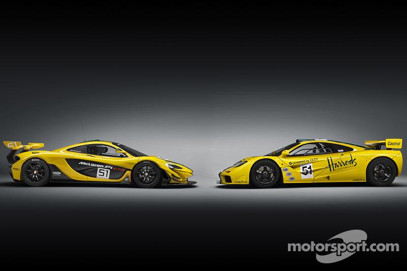 McLaren P1 GTR та McLaren F1 GTR
