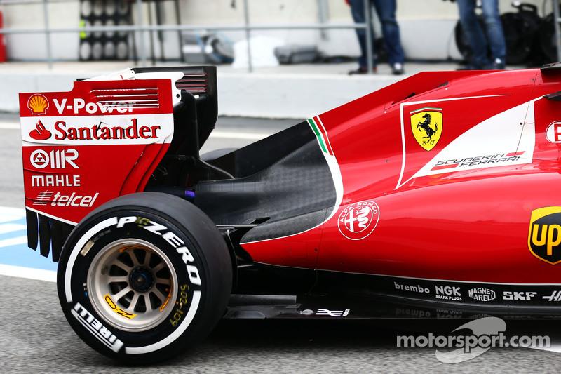 Ferrari SF15-T, Detail der Motorabdeckung