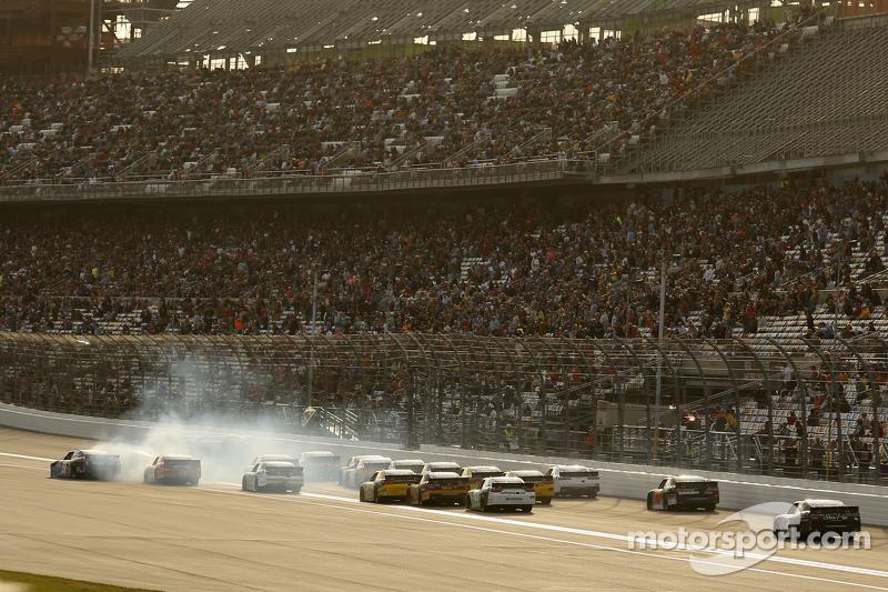 Kyle Busch, Joe Gibbs Racing Toyota and others crash