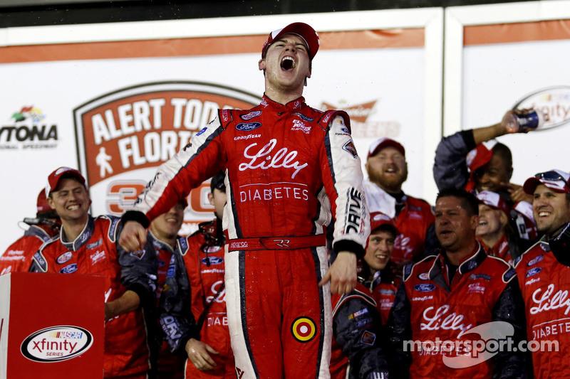 Race winner Ryan Reed, Roush Fenway Racing Ford celebrates