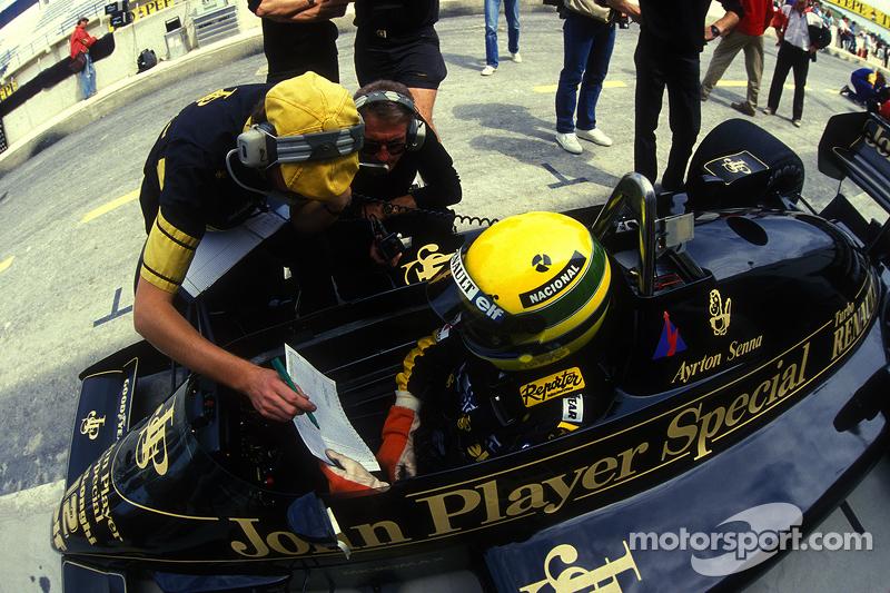 Ayrton Senna, Lotus ile Gérard Ducarouge