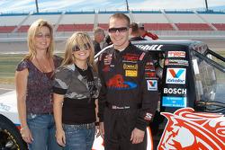 Karen, Brittany and Brandon Whitt salute Corky McMillin