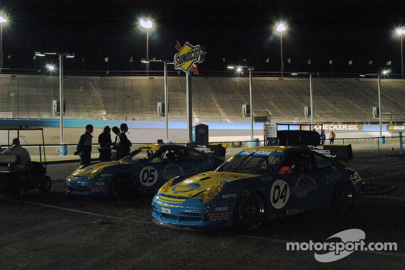 #04 Sigalsport Porsche DP3 Cup: Jim Michaelian, Matthew Alhadeff, #05 Sigalsport Porsche GT3 Cup: Matthew Alhadeff, Gene Sigal