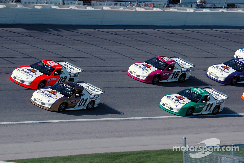 Scott Pruett, Helio Castroneves, Steve Kinser and Max Papis