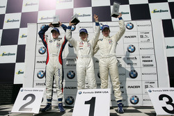 Podium: race winner Edoardo Piscopo with Reed Stevens and James Davison