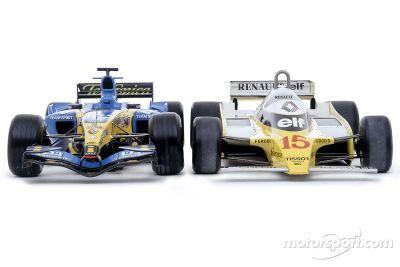 Séance photo des Renault R25 et RS11