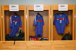 The famous Stade de France locker rooms with the '1998 world cup champions soccer players outfits