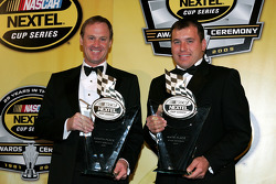 NASCAR Nextel Cup Awards Banquet at the Waldorf Astoria Hotel: Penske Racing teammates Rusty Wallace and Ryan Newman