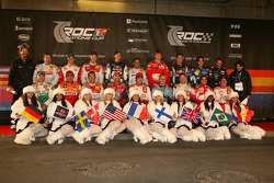 Family picture for the 2005 Race of Champions drivers