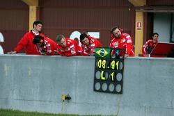 Pitboard of Felipe Massa