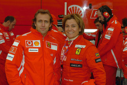 Luca Badoer and Tamara Vidali