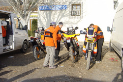 Team Repsol KTM test in Zaragoza