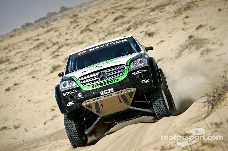 Equipe Kwikpower Mercedes-Benz : Ellen Lohr et Detlef Ruf essaient le Kwikpower Mercedes-Benz à Dubai