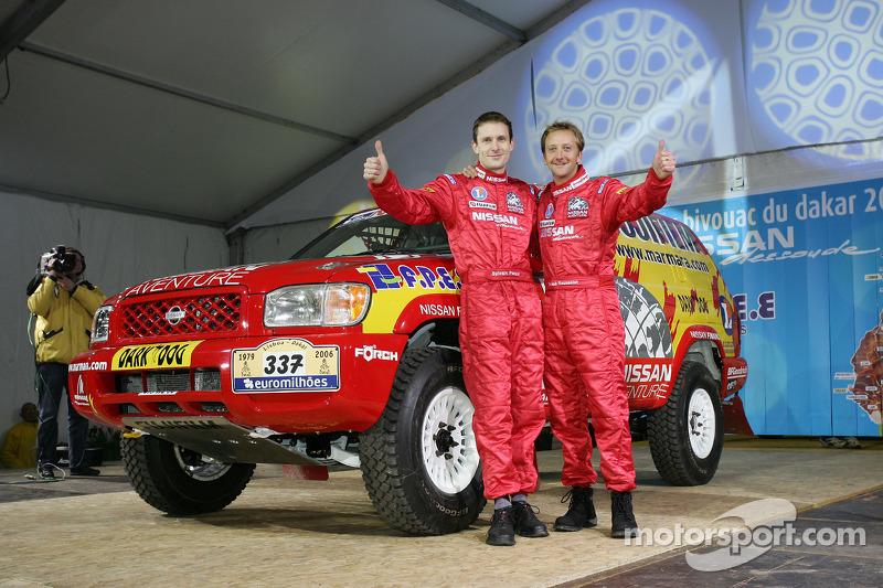 Présentation publique de l'équipe Nissan à Dessoude: Benoit Rousselot et Sylvain Poncet sur scène