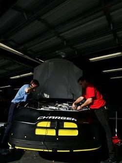 Petty Enterprises crew members at work