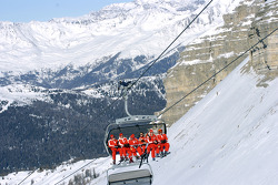 Michael Schumacher in the chairlift