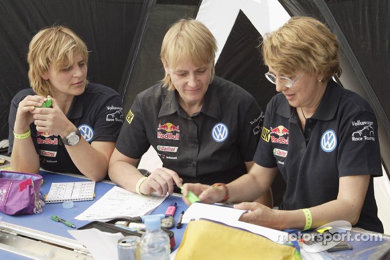 Tina Thorner, Jutta Kleinschmidt y Fabrizia Pons