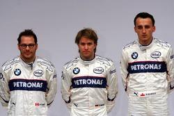 Jacques Villeneuve, Nick Heidfeld and Robert Kubica