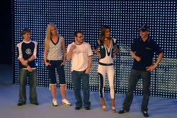 Nick Heidfeld, Christina Kruse, Jacques Villeneuve, Alessandra Ambrosio et Robert Kubica