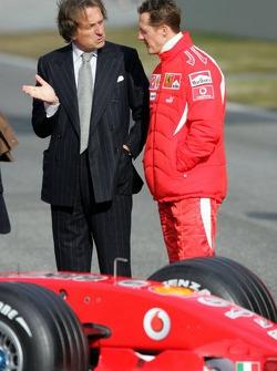 Luca di Montezemelo and Michael Schumacher