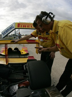 Penske Racing crew members at work