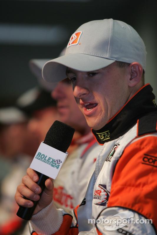 Les pilotes de Champ Car en conférence de presse: A.J. Allmendinger