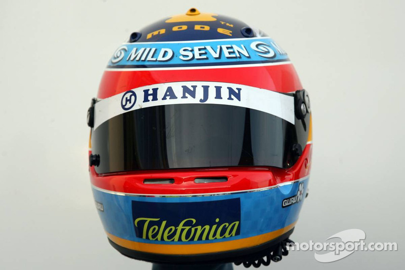 Casco de Fernando Alonso en 2005