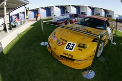 Rolex 24 Heritage cars on display