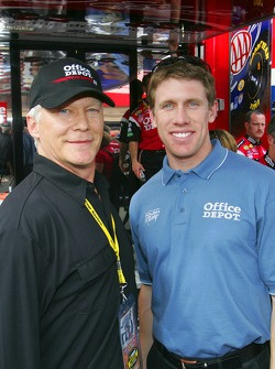 Actor James Morrison and Carl Edwards