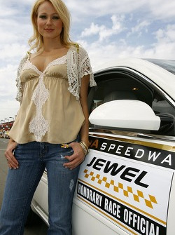 Recording artist Jewel is an honorary race official for the Auto Club 500