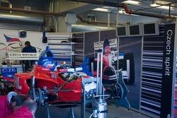Le garage de l'équipe Czech Republic