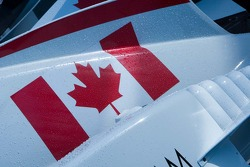 Perles d'eau dans le ciel canadien