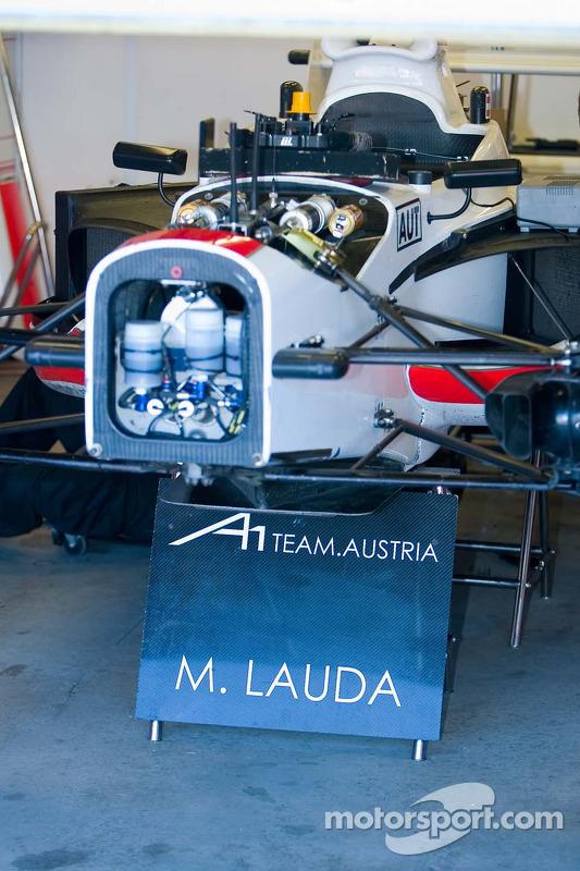 Mathias Lauda pilote pour l'équipe d'Autriche