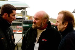 Max Papis, Kevin Kalkhoven and Emerson Fittpaldi