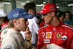 Nick Heidfeld and Michael Schumacher
