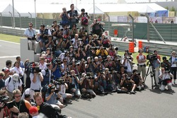 Photographers at work during the drivers photoshoot