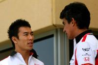 Takuma Sato and Aguri Suzuki