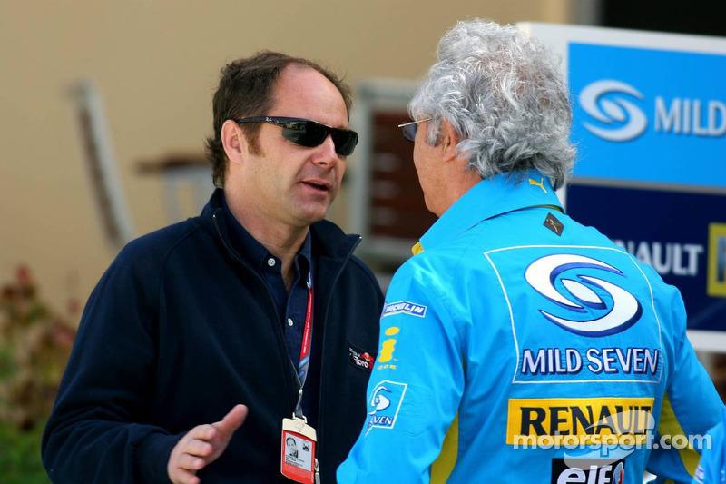 Gerhard Berger y Flavio Briatore