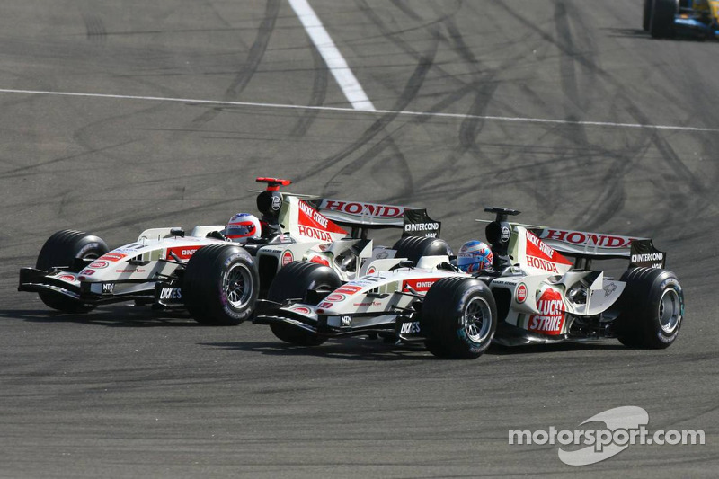 Rubens Barrichello y Jenson Button