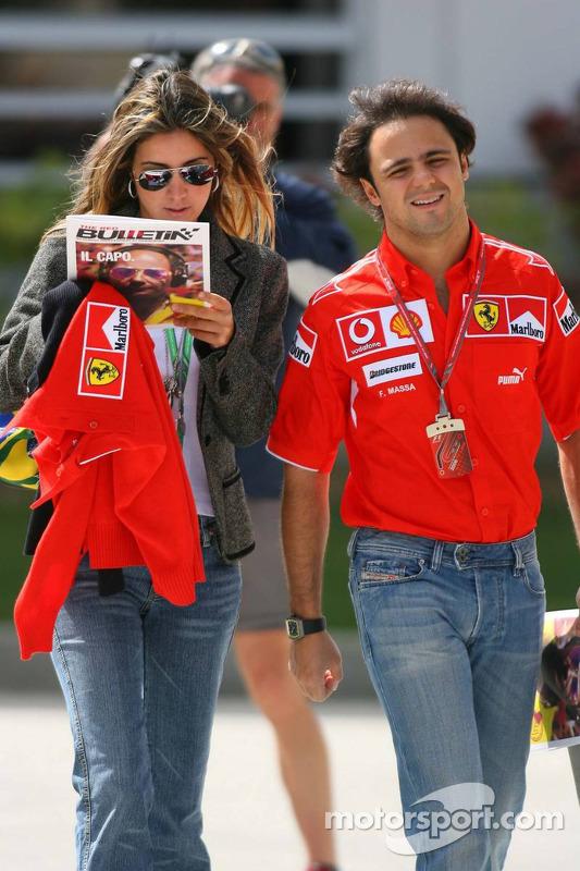 Felipe Massa and girlfriend Rafaela Bassi
