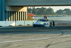 #23 Alex Job Racing losing a tire
