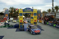 Winners Sébastien Loeb and Daniel Elena at the podium