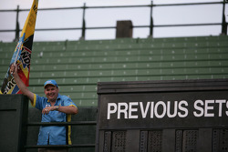 Pitstop tennis Pro-Am charity event: a fan cheers on