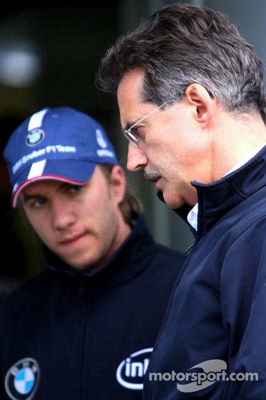 Nick Heidfeld et Dr Mario Theissen