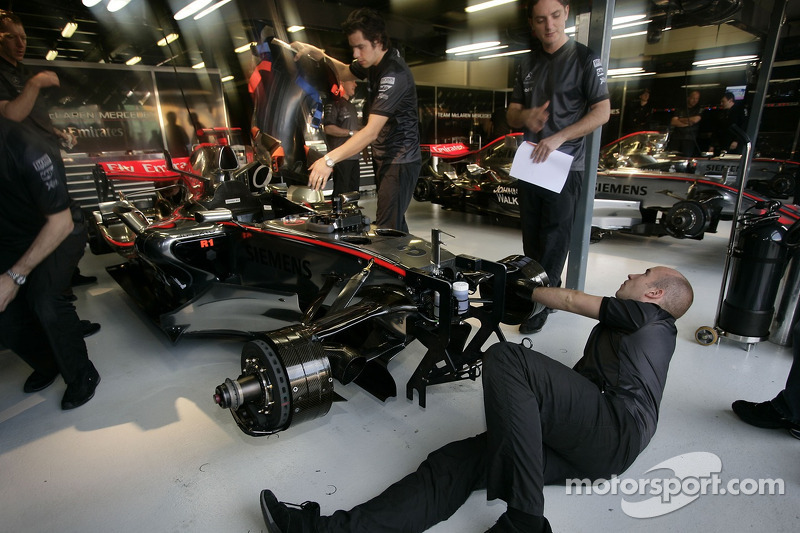 McLaren team members at work