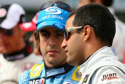 Fernando Alonso y Juan Pablo Montoya