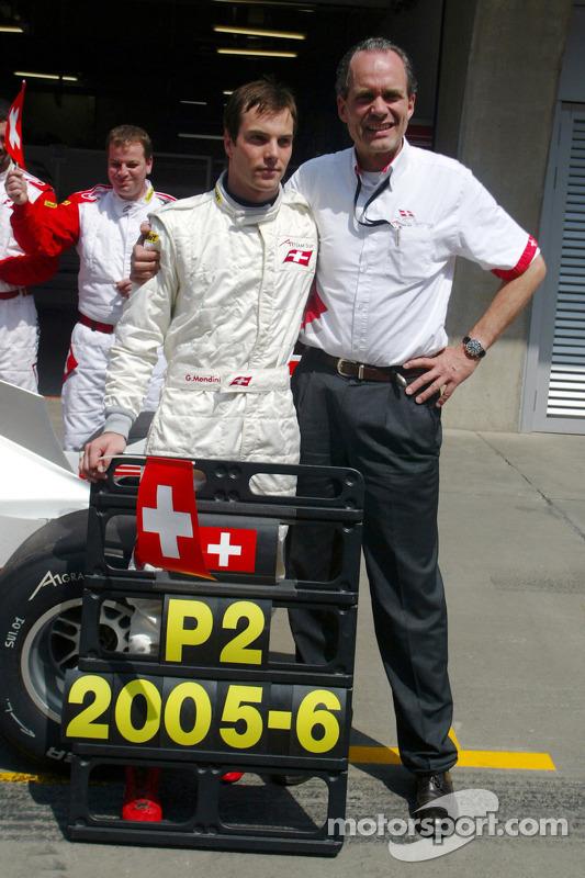 Giorgio Mondini (Suisse) etMax Welti (Suisse) fêtent leur deuxième place